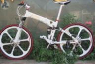Элитный Велосипед LAMBORGHINI G7 White на литых дисках