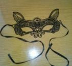 Маска ажурная карнавальная для эротических игр кошка