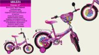 Велосипед 2-х коліс 12« 181221 (1шт) з дзвінком, дзеркалом,без ручного тормоза