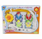 Музыкальная подвеска-карусель мобиль Kronos Toys Клоуны 6387A-D Разноцветный (tsi_51776)
