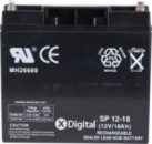 Аккумулятор к UPS 12V 18Ah X-DIGITAL SP12-18.