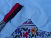 Домоткана рівномірна тканина для вишивання «Мета» білого кольору 100 грн/м