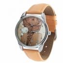 Часы наручные «Девочка с котиком» кремовый