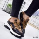 Кроссовки женские Trend черные + лео