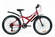 Велосипед ST 24« Discovery FLINT Vbr с крылом Pl 2020 (красно-черный)