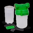 СВОД Корпус магистрального фильтра 5« для холодной воды с картриджем под засыпку (с латунной резьбой)
