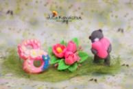 8 Марта + тюльпаны + Тедди с сердцем