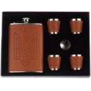 Сувенирный набор фляга и 4 стаканчика STENSON 260 мл (R86713)