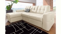 Новый кожаный мягкий угловой диван производства Германии