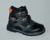 Ботинки на липучках W116 черные.