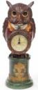 Декоративная фигурка с часами «Мудрая Сова в красном кафтане» 32см