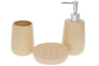 Набор аксессуаров для ванной Bona Di Sand 851-299 3 предмета бежевый