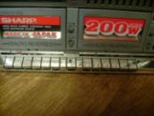 SHARP 939 Наклейки хром для колонок + на кнопки + шильдики