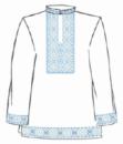 Сорочка мужская под вышивку, белая, длинный рукав