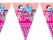 Гирлянда праздничная Маленькие Пони, длиной 2 м (10 флажков )
