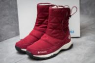 Зимние ботинки в стиле Columbia Keep warm, бордовые (30283),  [  41 (последняя пара)  ]