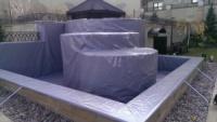Тент литой из пвх материалов (бескаркасный вариант) Производится прямо на объекте.