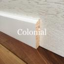 Плінтус білий дерев'яний Colonial 8 см (16*80 мм)