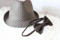 Галстук-бабочка коричневая с узором/Краватка-метелик коричнева