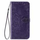 Кожаный чехол (книжка) Art Case с визитницей для Xiaomi Redmi 8 Фиолетовый