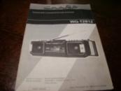 Мануал инструкция по эксплуатации магнитолы SHARP WQ-281 Manual operating instructions of the tape-recorder SHARP WQ281
