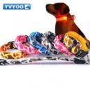 Yvyoo камуфляж красивое свечение Хорошее качество прочный животное ошейник светодиодной вспышкой Pet Открытый продукты 5
