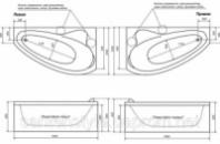 Акриловая ванна ТРИТОН Пеарл-Шелл  1600х1040х605 (Левая)