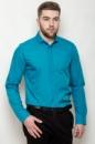 Рубашка приталенная AG-0000099 Лазурный