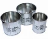 Набор «Кулич-Пасха» 3 разъемные формы Ø11, Ø14 и Ø16 из нержавеющей стали