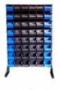 Стеллаж с ящиками и траверсами для метизов 1,5 м + 48 ящиков