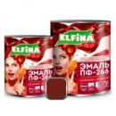 Эмаль ПФ-266 2,8 кг, Elfina красно-коричневая