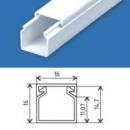Кабельний канал 16х16 (180 м.п./уп) пластиковый с крышкой