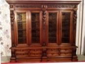 Большой антикварный книжный шкаф (кабинет, библиотека)