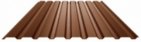 Профнастил коричневый RAl 8017 ПС-12 1170х1200х0,35мм