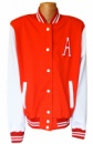 Кофта бомбер американка подростковая (женская), цвет красный