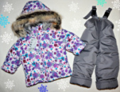 Зимний комбинезон и куртка на девочку 1-2,2-3,3-4,4-5 лет