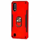 Ударопрочный чехол SG Ring Color магнитный держатель для Samsung Galaxy A01 Красный