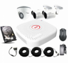 Универсальный комплект AHD видеонаблюдения Longse 2M2N1V c 3 камерами 2 Мп + HDD 500Гб
