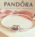 Пандора браслет «Сердце»основа серебро S925 ALE Pandora Оригинал цена купить основу браслет