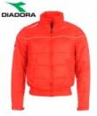 Курточки бомберы спортивные демисезонные стеганные красные подростковые, бренд «Diadora» (Италия)