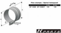Хомут широкий переход. оцинк., D 115/110mm, 99311, 81151030010