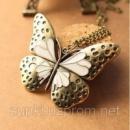 Подвеска «Бабочка» под бронзу на длинной цепочке