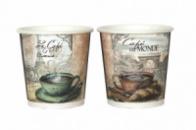 Бумажные стаканы 182 мл с рисунком чашка кофе Париж