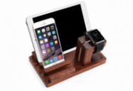 Деревянная подставка Grand для iPhone/Apple Watch/iPad Коричневая (AL1366)