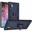 Ударопрочный чехол Serge Ring магнитный держатель для Samsung Galaxy Note 10 Plus Темно-синий
