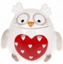 Банка «Совушка с сердцем» 460мл керамическая
