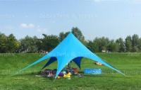 Шатер Звезда Цвет - голубой. 10 м диаметр 4,8 высота. Теневой шатер. 14900 грн