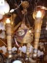 Лампа деревянная