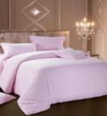 Комплект постельного белья Love You Страйп-сатин «Розовый» Евро