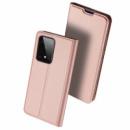 Чехол-книжка Dux Ducis с карманом для визиток для Samsung Galaxy S20 Ultra Rose Gold